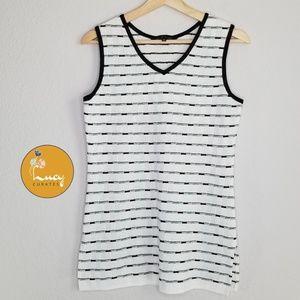 MING WANG stripe knit sleeveless top N27